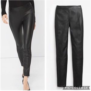 NWT WHBM Faux Leather Front Leggings Sz 4